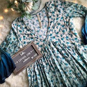 Uncle Frank Floral Ombré Babydoll Dress